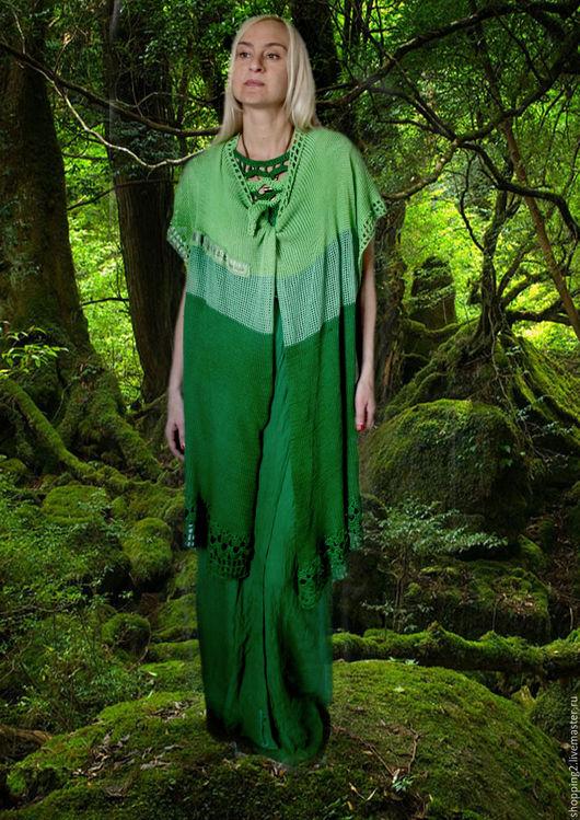 Платья ручной работы. Ярмарка Мастеров - ручная работа. Купить Комплект 2 в одном Костюм У33. Handmade. Зеленый, большой размер
