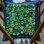 """Для дома и интерьера ручной работы. Ярмарка Мастеров - ручная работа Войлочная декоративная подушка """"Море рядом"""". Handmade."""