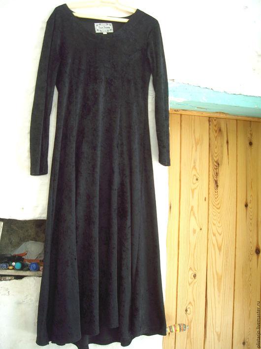 Одежда. Ярмарка Мастеров - ручная работа. Купить Черное платье,винтаж. Handmade. Черный, винтажное платье