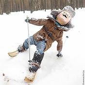 Куклы и игрушки ручной работы. Ярмарка Мастеров - ручная работа мальчик на лыжах. Handmade.