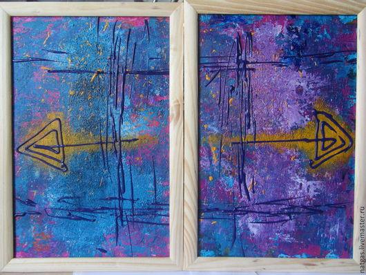Абстракция ручной работы. Ярмарка Мастеров - ручная работа. Купить абстракция. Handmade. Разноцветный, Картины и панно, подарок
