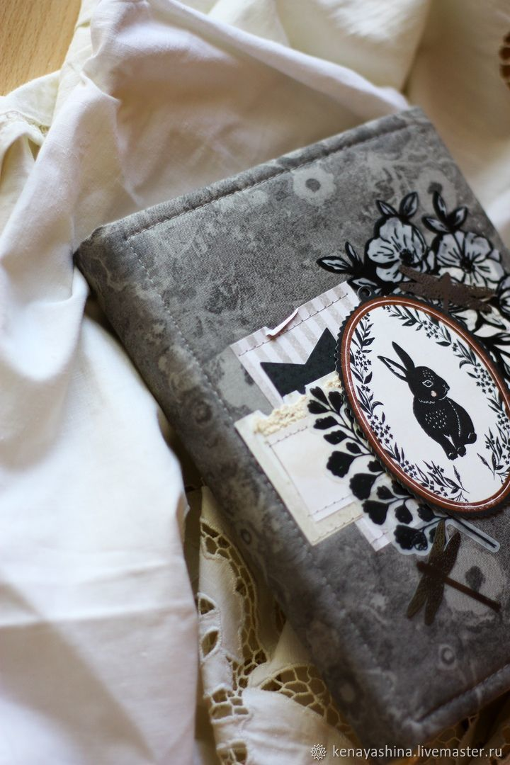 Серый блокнот с кроликом, Блокноты, Вольск,  Фото №1