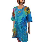 Одежда handmade. Livemaster - original item Felted tunic made of Merino wool and silk