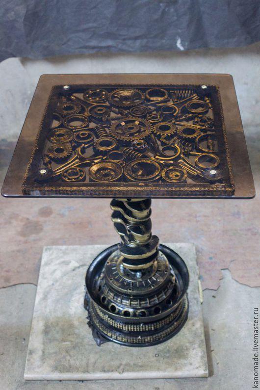 Мебель ручной работы. Ярмарка Мастеров - ручная работа. Купить Журнальный стол в стиле ТехноАрт.. Handmade. Комбинированный, стиль, круто