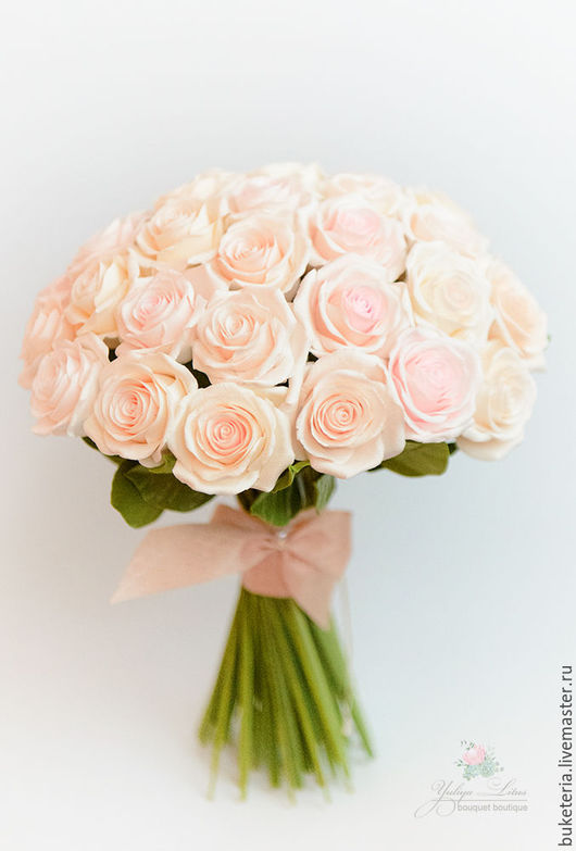 Букеты ручной работы. Ярмарка Мастеров - ручная работа. Купить Букет невесты из роз из полимерной глины. Handmade. Букет невесты