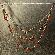 Украшения handmade. Livemaster - original item Cornelian chain. Handmade.