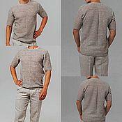 Мужская одежда handmade. Livemaster - original item 100% linen. Men`s jumper