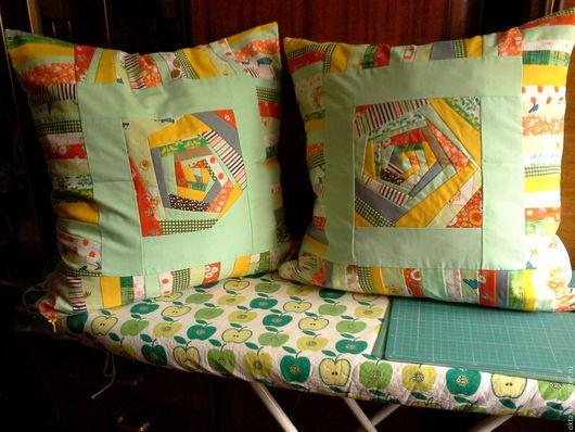 Текстиль, ковры ручной работы. Ярмарка Мастеров - ручная работа. Купить Лоскутные наволочки на подушки. Handmade. Комбинированный, яркие, для дачи