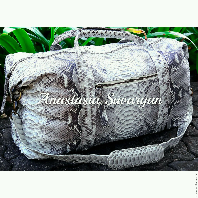 Sports Bags handmade. Livemaster - handmade. Buy bag of genuine Python leather.Handmade, python, crossbody bag