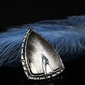 Украшения handmade. Livemaster - original item Obisidia ring with silver obsidian made of 925 IV0011 silver. Handmade.