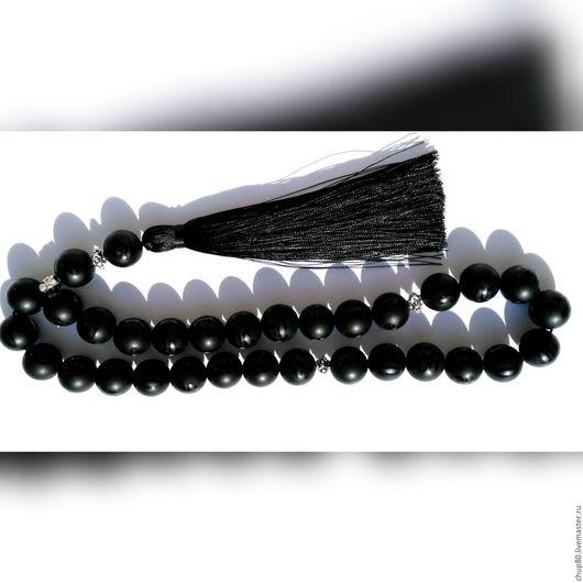 Подарки для мужчин, ручной работы. Ярмарка Мастеров - ручная работа. Купить Четки черные. Handmade. Черный, агат черный