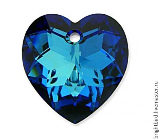 Для украшений ручной работы. Ярмарка Мастеров - ручная работа. Купить Сваровски подвеска 18 мм СЕРДЦЕ 6215 цвет Bermuda Blue. Handmade.