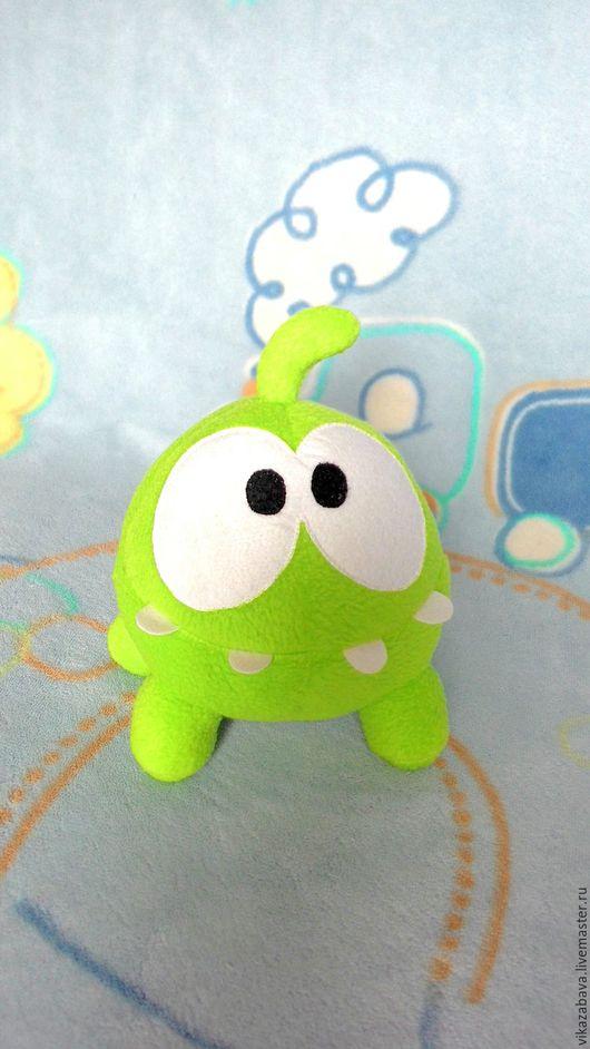 Ам-няма, мягкая игрушка Ам-ням, лягушонок из игры, забавная мягкая игрушка, персонаж любимой игры, мультгерой, монстр, монстрик, мягкая игрушка монстрик, зеленый монстрик, ам-ням игрушка