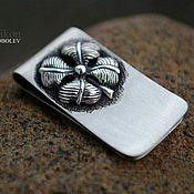 Фен-шуй и эзотерика handmade. Livemaster - original item Money clip four leaf Clover for good luck. (silver). Handmade.
