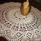 Для дома и интерьера ручной работы. Ярмарка Мастеров - ручная работа Ажурная салфетка крючком. Handmade.