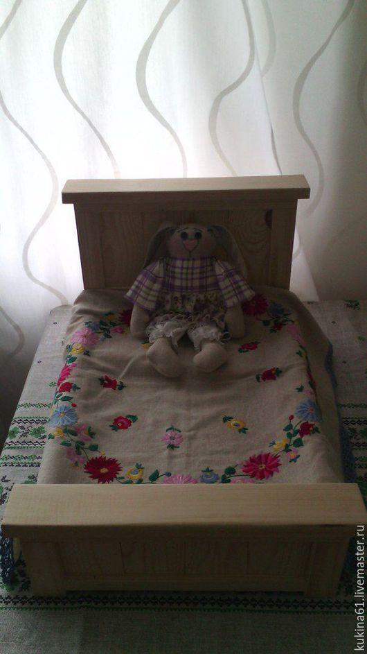 Детская ручной работы. Ярмарка Мастеров - ручная работа. Купить кроватка для кукол. Handmade. Белый, дочки матери, сосна
