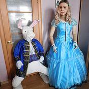 Куклы и игрушки handmade. Livemaster - original item interior doll: Alice and the white rabbit. Handmade.
