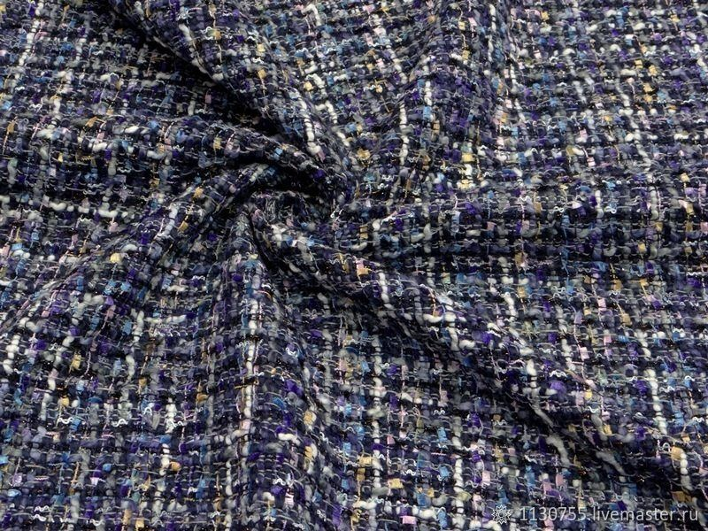 Ткань  шанель  т.синяя, Ткани, Москва,  Фото №1