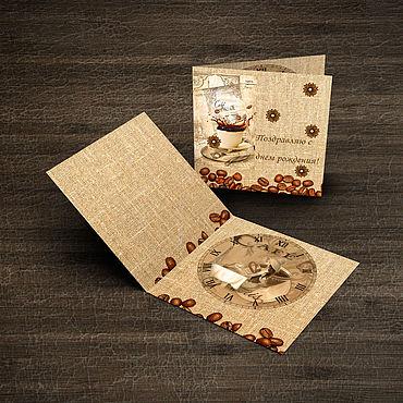 Дизайн и реклама ручной работы. Ярмарка Мастеров - ручная работа Открытка с днем с рождения. Handmade.