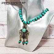 Украшения handmade. Livemaster - original item Beads of natural turquoise