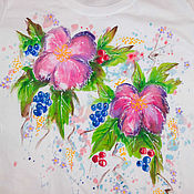 Одежда handmade. Livemaster - original item T-shirt with the painting
