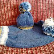 Работы для детей, ручной работы. Ярмарка Мастеров - ручная работа кокон и шапочка для новорожденного. Handmade.