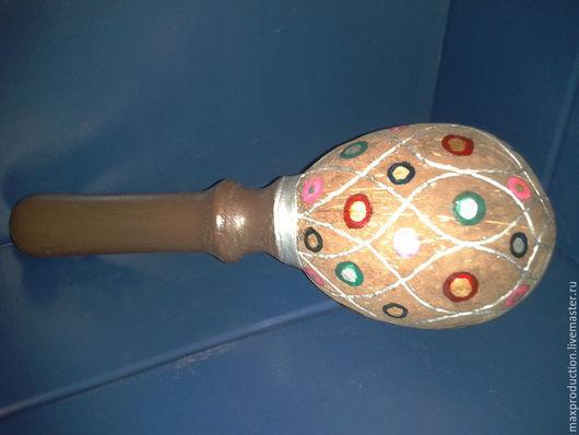 Ударные инструменты ручной работы. Ярмарка Мастеров - ручная работа. Купить Маракас. Handmade. Разноцветный, сосна