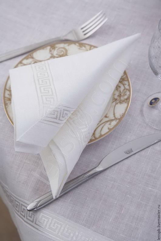 Текстиль, ковры ручной работы. Ярмарка Мастеров - ручная работа. Купить Салфетки льняные  белые. Handmade. Салфетка белая