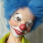 "Куклы и игрушки handmade. Livemaster - original item Author`s doll ""Clown Trick"". Handmade."
