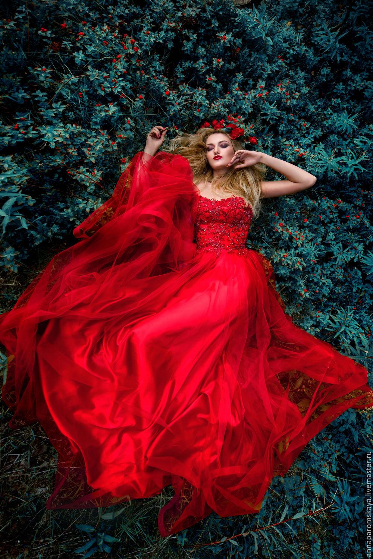 1f2e2ee19ce Платья ручной работы. Ярмарка Мастеров - ручная работа. Купить Красное  платье. Handmade.