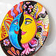 Order 'Sun and Moon' Decorative plate hand painted. Art by Tanya Shest. Livemaster. . Plates Фото №3