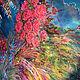 Панно на шелке ручная роспись батик на заказ Вечер в Каннах SilkCreatures painting picture canvas silk handmade batik купить Петербург
