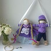 Куклы и игрушки ручной работы. Ярмарка Мастеров - ручная работа Неразлучники свадебная кукла в Фиолетовых тонах. Handmade.