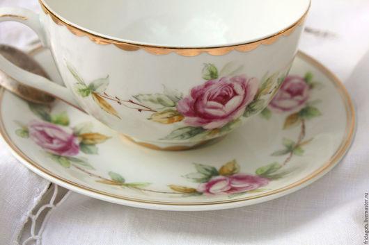 """Сервизы, чайные пары ручной работы. Ярмарка Мастеров - ручная работа. Купить Роспись фарфора. Чайная пара """"Нежность"""". Handmade."""