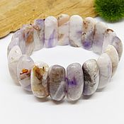 Украшения handmade. Livemaster - original item Bracelet of amethyst quartz Lavender and snow. Handmade.