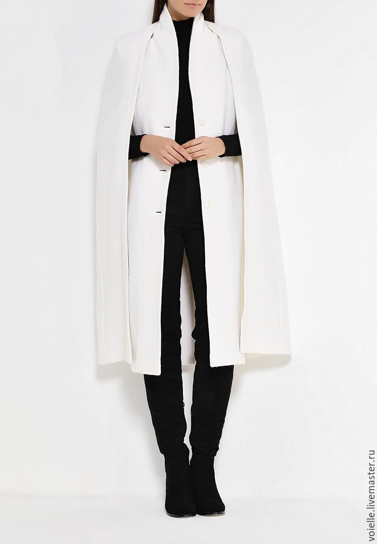 Stylish Cape coat sleeveless in one set. You can wear vest coat sleeveless separately from the Cape. Two of the most relevant and trendy products of the season in one!