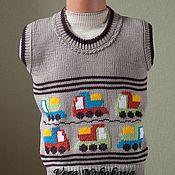 Работы для детей, ручной работы. Ярмарка Мастеров - ручная работа Жилет детский из шерсти Юный автолюбитель. Handmade.