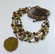 Украшения handmade. Livemaster - original item Necklace of agate, Jasper and jade. Handmade.