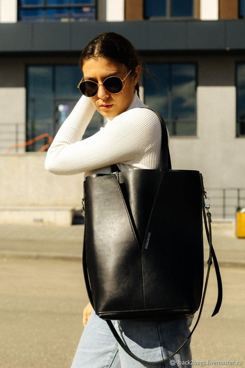 Женская кожаная сумка тоут, шоппер из кожи, Классическая сумка, Санкт-Петербург,  Фото №1