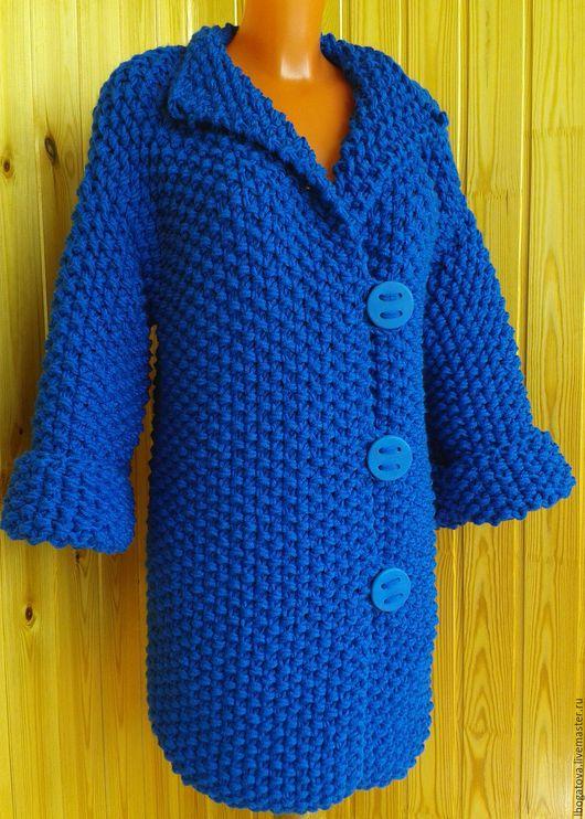 """Верхняя одежда ручной работы. Ярмарка Мастеров - ручная работа. Купить Вязаное объемное пальто/кардиган  """" Креатив для меня"""". Handmade."""