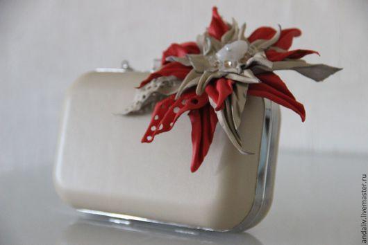 Женские сумки ручной работы. Ярмарка Мастеров - ручная работа. Купить Кожаный клатч. Handmade. Клатч, кожаный клатч, молочный
