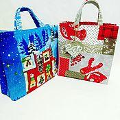 Мешочки для подарков ручной работы. Ярмарка Мастеров - ручная работа Сумочка для новогодних подарков. Handmade.