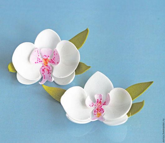 """Открытки и скрапбукинг ручной работы. Ярмарка Мастеров - ручная работа. Купить """"Орхидея"""" цветы из фоамирана. Handmade. Белый, орхидея"""