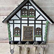 Для дома и интерьера handmade. Livemaster - original item Housekeeper Alpine house. The housekeeper wall.Decor with polymer clay.. Handmade.