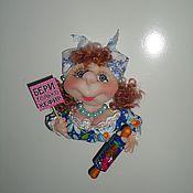 Куклы и игрушки ручной работы. Ярмарка Мастеров - ручная работа Кукла-магнит на холодильник. Handmade.