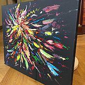 Картины ручной работы. Ярмарка Мастеров - ручная работа Картина маслом Магия цвета абстракция. Handmade.