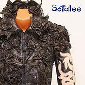 Одежда handmade. Livemaster - original item Exclusive women`s leather jackets with voluminous colors.. Handmade.
