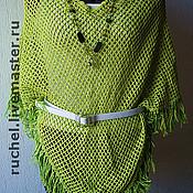 """Одежда ручной работы. Ярмарка Мастеров - ручная работа Летнее пончо """"Весенняя зелень"""". Handmade."""