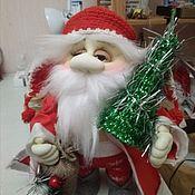Мягкие игрушки ручной работы. Ярмарка Мастеров - ручная работа Мягкие игрушки: Дед Мороз. Handmade.
