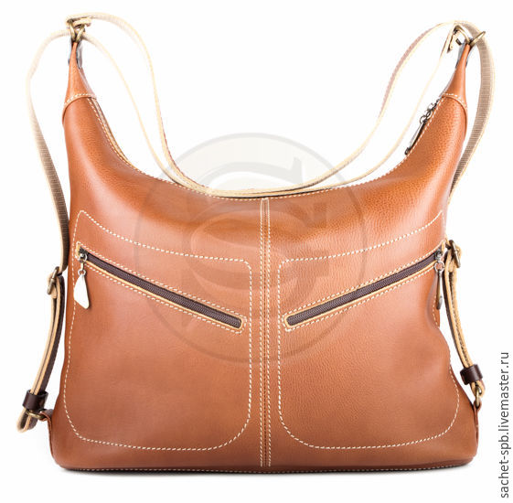 Leather backpack Athena brown, Classic Bag, St. Petersburg,  Фото №1